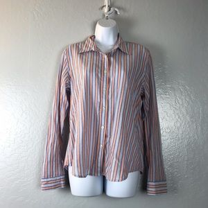 Polo Jeans Ralph Lauren Blue Button Striped XL